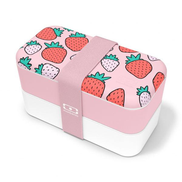 Bentobox / Lunchbox 'Original graphic Strawberry'