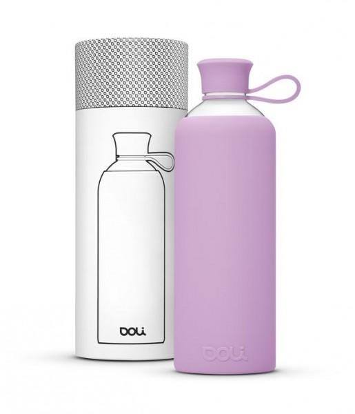 Trinkflasche 550ml Glas - Lila