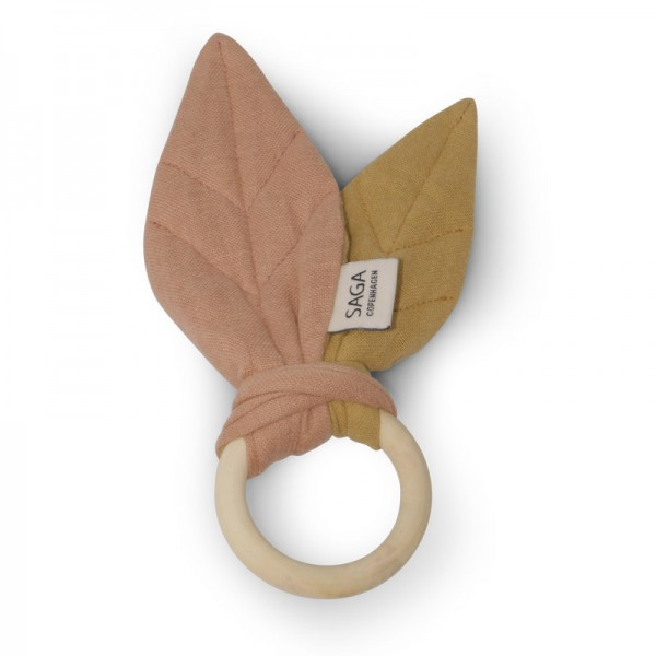 Beißring / Teething Ring 'Blaoa' - Dusty Coral / Mustard