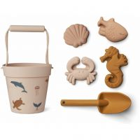 "Sandkastenspielzeug ""Dante beach set - Sea creature rose multi mix"""