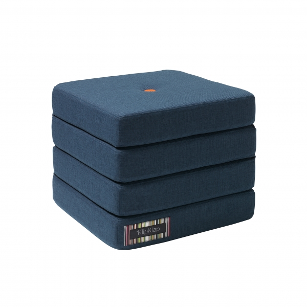 Multifunktionaler Pouf 'KK 4 Fold' - Dark Blue / Orange